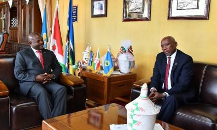 Le Chef de l'Etat reçoit l'Ambassadeur de l'Afrique du Sud