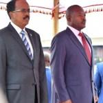 Le Président Somalien acceulli par Son Homologue Burundais