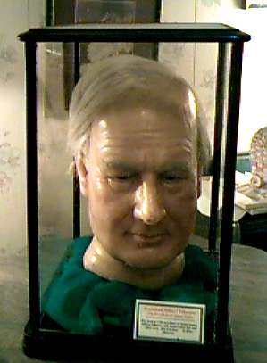 Millard Fillmore's head, in wax