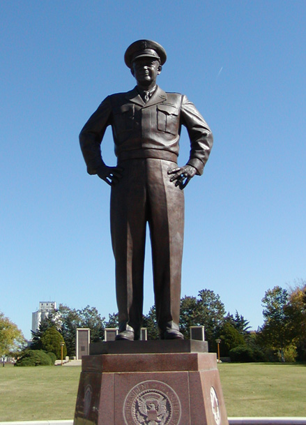 Dwight D. Eisenhower statue in Abilene, Kansas