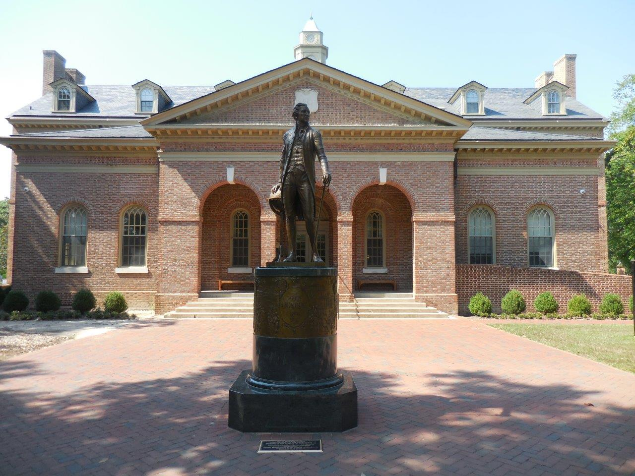 James Monroe statue at the College of William and Mary