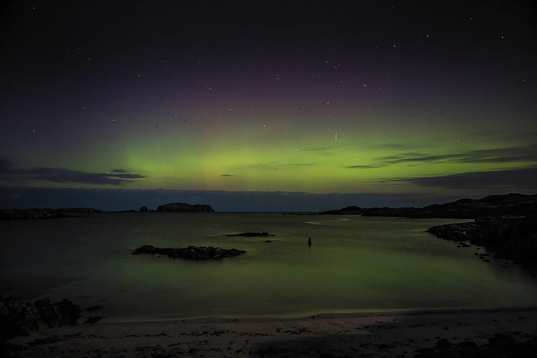 Northern Lights Skye Northern Lights Over Isle of