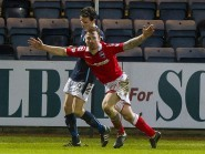 Craig Curran celebrates scoring on his County debut against Dundee