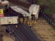 Train derails near Los Angeles, USA