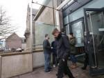 Richard Stuart laves court following his guilty plea