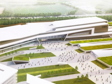 Artist impression of the new plans for Aberdeen Exhibition and Conference Centre