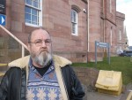Colin Chisholm outside Inverness Sheriff Court