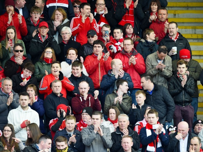Once again the Dons fans have travelled in good numbers to back Derek McInnes' men