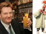 Danny Alexander with the Beaker cocktail at Bar One in Inverness, it is named after his supposed Muppet look-a-like Beaker