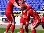 Aberdeen's Niall McGinn celebrates after giving the Dons the lead
