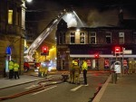 The fire took hold at around 10pm last night