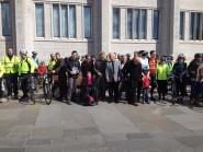 Aberdeen cyclists with councillors outside Marischal College this morning. Picture courtesy of councillor Ross Thomson