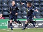 Liam Boyce celebrates opening the scoring