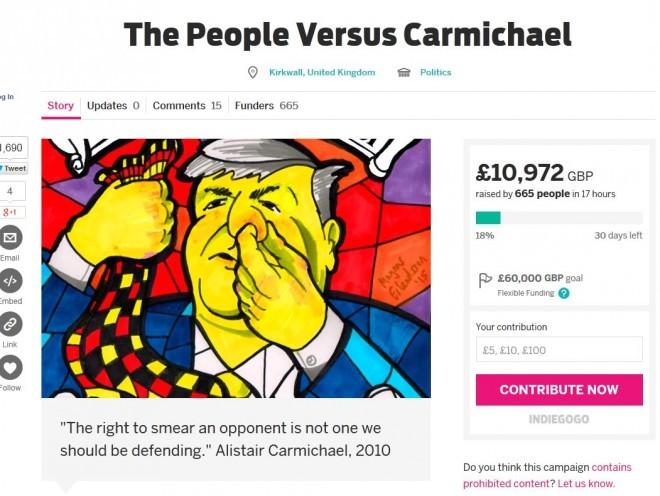 The People Versus Carmichael campaign page