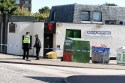 Police outside the Broadsword Bar on Hayton Road, Aberdeen