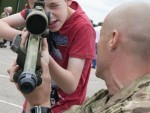 Lewis Bond gets to handle a modern sniper rifle