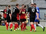 Inverurie Loco players celebrate David Ross' goal. Picture by Kenny Elrick