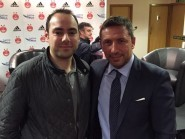 Dons fans will be relieved it is the man on the left, rather than the right who has applied for the job