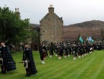 A long walk for the Lonach Highlanders