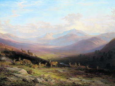 James Giles, A View of Lochnagar, 1848. Oil on panel