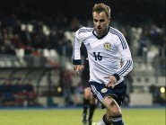 Graeme's brother Andrew playing for Scotland against Luxemburg