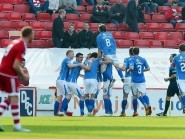 St Johnstone celebrate as they go 5-1 in front