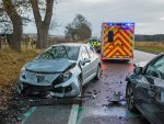 Scene of the crash on the A96 near Brodie