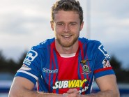 Alex Fisher joined Caley Thistle from Torquay United last season.