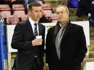 Roy McGregor with Staggies manager Jim McIntyre.