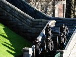 Police Scotland officers search Union Terrace Gardens