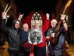 Drummer Alex Smith (65) bass player Dave McRoberts (62) Keyboard player David Murdoch (65) and lead guitarist Doug McRoberts (66) pictured in Pollokshield Parish Church