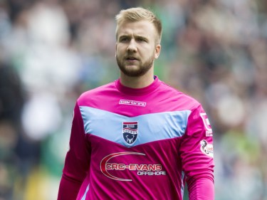 Ross County keeper Scott Fox made several saves to deny Hearts