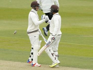 Jason Roy, left, and Kumar Sangakkara are Surrey team-mates
