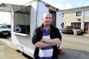 Martin Anderson and his burger van