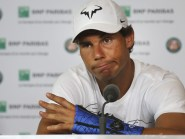 Rafael Nadal is out of the French Open because of a wrist injury (AP)