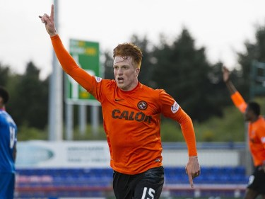 Dundee United's Simon Murray celebrates after scoring his side's second