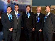 (L-R) Conservatives Ross Thomson, Alex Johnstone, Alexander Burnett, Peter Chapman and Liam Kerr issued a joint statement (Picture: Kenny Elrick)