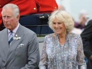 The Prince of Wales and Duchess of Cornwall arrive by carriage as they visit the 135th Sandringham Flower Show at Sandringham House in Norfolk
