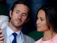 Pippa Middleton and fiance James Matthews pictured at Wimbledon
