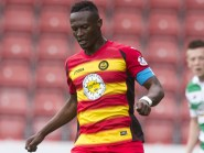 Partick Thistle's David Amoo was back in action on Saturday