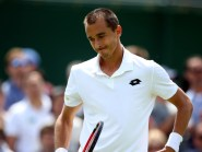 Lukas Rosol, pictured, was on the end of an Andy Murray jibe last year