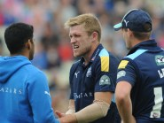 David Willey, centre, was injured trying to take a catch off his own bowling during Yorkshire's Finals Day defeat to Durham