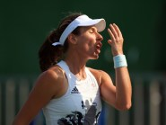 Great Britain's Johanna Konta will have to wait for a crack at the top 10 after losing in the Wuhan Open quarter-final