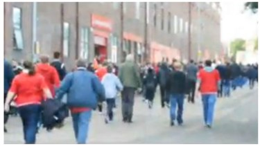 VIDEO: Fans arriving for the first Rangers match at Pittodrie in years
