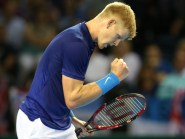 Great Britain's Kyle Edmund is through to his first ATP Tour semi-final in Antwerp