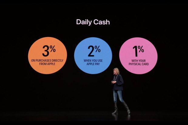 Cash back avec l'Apple Card