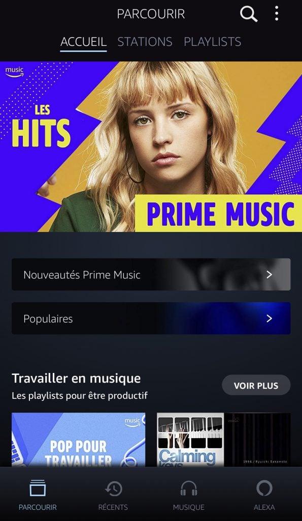 Design mobile Amazon Music