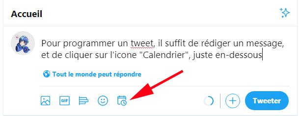 Programmer un tweet
