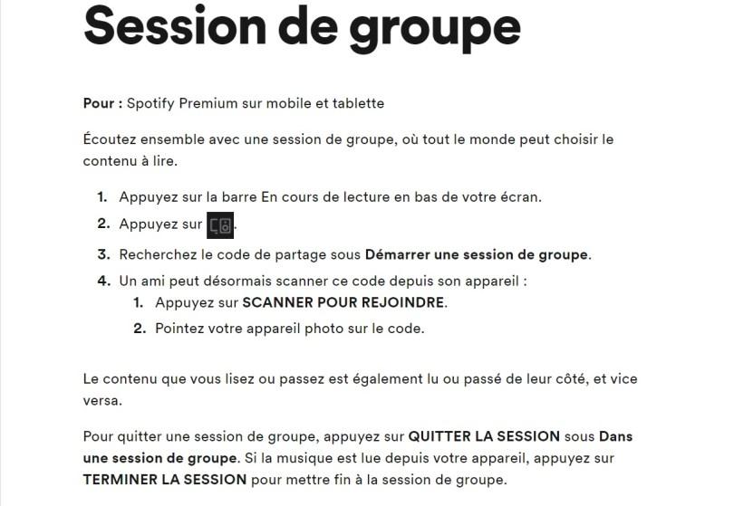 Session de Groupe sur Spotify