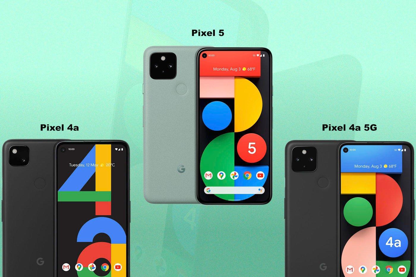Pixel 5 vs Pixel 4a vs Pixel 4a 5G